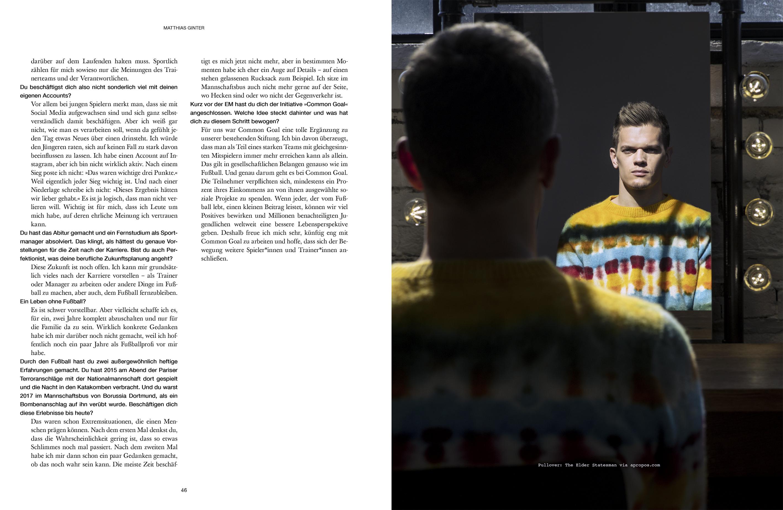 Matthias Ginter Editorial fotografiert von Alexander Basile
